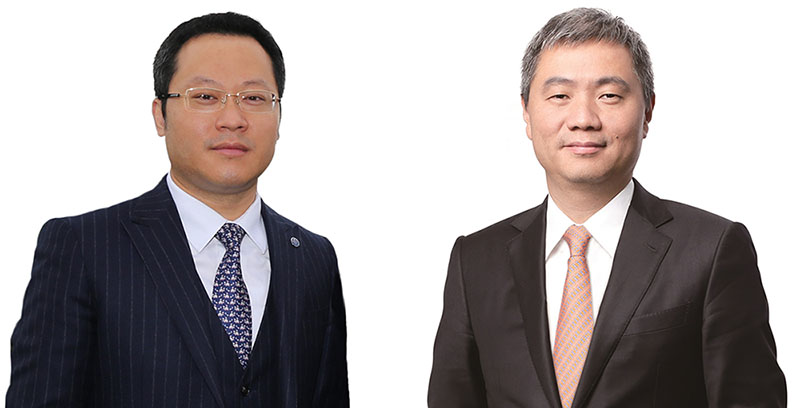 <p>Wu Min, CEO of Haitong Bank and Lin Yong, Chairman of the Board of Directors</p>